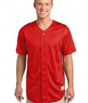 Sport-Tek ST220 PosiCharge Tough Mesh Full-Button Jersey True Red