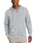 Sport-Tek ST258 Full-Zip Hooded Sweatshirt Athletic Heather