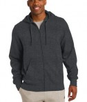 Sport-Tek ST258 Full-Zip Hooded Sweatshirt Graphite Heather