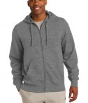 Sport-Tek ST258 Full-Zip Hooded Sweatshirt Vintage Heather