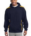 Sport-Tek ST265 Sleeve Stripe Pullover Hooded Sweatshirt True Navy/Gold