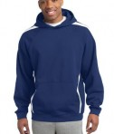 Sport-Tek ST265 Sleeve Stripe Pullover Hooded Sweatshirt True Royal/White