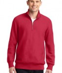 Sport-Tek ST283 Super Heavyweight 1/4-Zip Pullover Sweatshirt Red