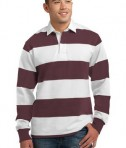 Sport-Tek ST300 Long Sleeve Rugby Polo Maroon/White