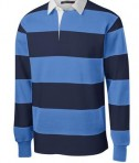 Sport-Tek ST300 Long Sleeve Rugby Polo True Navy/Carolina Blue Form
