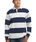 Sport-Tek ST300 Long Sleeve Rugby Polo True Navy/White