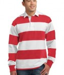 Sport-Tek ST300 Long Sleeve Rugby Polo True Red/White