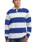 Sport-Tek ST300 Long Sleeve Rugby Polo True Royal/White