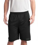 Sport-Tek ST312 PosiCharge Tough Mesh Pocket Short Black