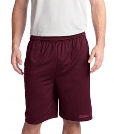 Sport-Tek ST312 PosiCharge Tough Mesh Pocket Short Maroon