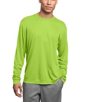 Sport-Tek ST350LS Long Sleeve PosiCharge Competitor Tee Lime Shock