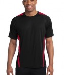 Sport-Tek TST351 Tall Colorblock PosiCharge Competitor Tee Black/Red