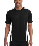 Sport-Tek TST351 Tall Colorblock PosiCharge Competitor Tee Black/White
