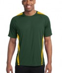 Sport-Tek TST351 Tall Colorblock PosiCharge Competitor Tee Forest Green/Gold