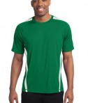 Sport-Tek TST351 Tall Colorblock PosiCharge Competitor Tee Kelly Green/White