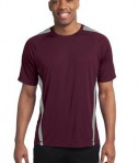 Sport-Tek TST351 Tall Colorblock PosiCharge Competitor Tee Maroon/Silver