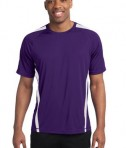 Sport-Tek TST351 Tall Colorblock PosiCharge Competitor Tee Purple/White