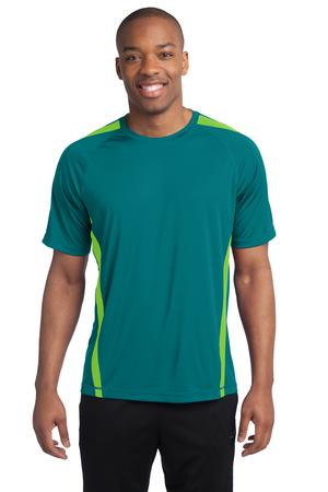 Sport-Tek TST351 Tall Colorblock PosiCharge Competitor Tee Tropic Blue/Lime Shock