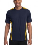 Sport-Tek TST351 Tall Colorblock PosiCharge Competitor Tee True Navy/Gold