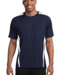 Sport-Tek TST351 Tall Colorblock PosiCharge Competitor Tee True Navy/White