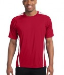 Sport-Tek TST351 Tall Colorblock PosiCharge Competitor Tee True Red/White