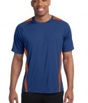 Sport-Tek TST351 Tall Colorblock PosiCharge Competitor Tee True Royal/Deep Orange