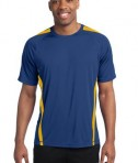 Sport-Tek TST351 Tall Colorblock PosiCharge Competitor Tee True Royal/Gold