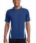 Sport-Tek TST351 Tall Colorblock PosiCharge Competitor Tee True Royal/White