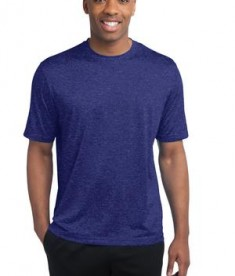 Sport-Tek ST360 Heather Contender Tee Cobalt Heather