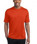 Sport-Tek ST360 Heather Contender Tee Deep Orange Heather
