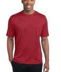 Sport-Tek ST360 Heather Contender Tee Scarlet Heather