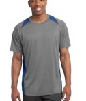 Sport-Tek ST361 Heather Colorblock Contender Tee Vintage Heather True Royal