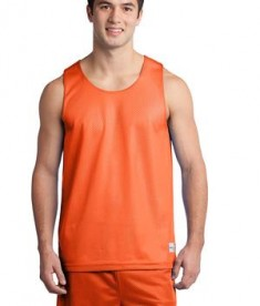 Sport-Tek ST500 PosiCharge Classic Mesh Reversible Tank Deep Orange