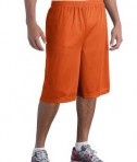 Sport-Tek ST511 Extra Long PosiCharge Classic Mesh Short Deep Orange