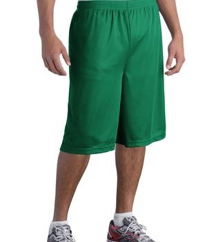 Sport-Tek ST511 Extra Long PosiCharge Classic Mesh Short Kelly Green