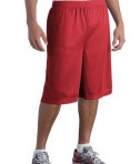 Sport-Tek ST511 Extra Long PosiCharge Classic Mesh Short True Red