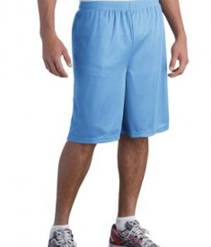 Sport-Tek ST515 Long PosiCharge Classic Mesh Short Carolina Blue