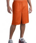Sport-Tek ST515 Long PosiCharge Classic Mesh Short Deep Orange