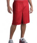Sport-Tek ST515 Long PosiCharge Classic Mesh Short True Red