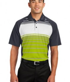 Sport-Tek ST600 Dry Zone Sublimated Stripe Polo Citron