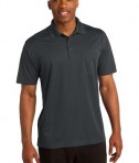 Sport-Tek ST651 Micropique Sport-Wick Pocket Polo Iron Grey