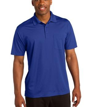 Sport-Tek ST651 Micropique Sport-Wick Pocket Polo True Royal