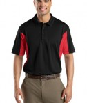 Sport-Tek ST655 Side Blocked Miropique Polo Black/True Red