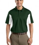 Sport-Tek ST655 Side Blocked Miropique Polo Forest Green/White
