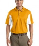 Sport-Tek ST655 Side Blocked Miropique Polo Gold/White