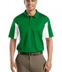 Sport-Tek ST655 Side Blocked Miropique Polo Kelly Green/White