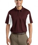 Sport-Tek ST655 Side Blocked Miropique Polo Maroon/White