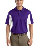 Sport-Tek ST655 Side Blocked Miropique Polo Purple/White