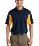 Sport-Tek ST655 Side Blocked Miropique Polo True Navy/Gold