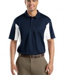 Sport-Tek ST655 Side Blocked Miropique Polo True Navy/White